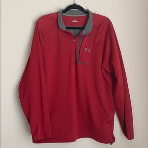 UNDER ARMOUR | red 1/4 zip cold gear jacket